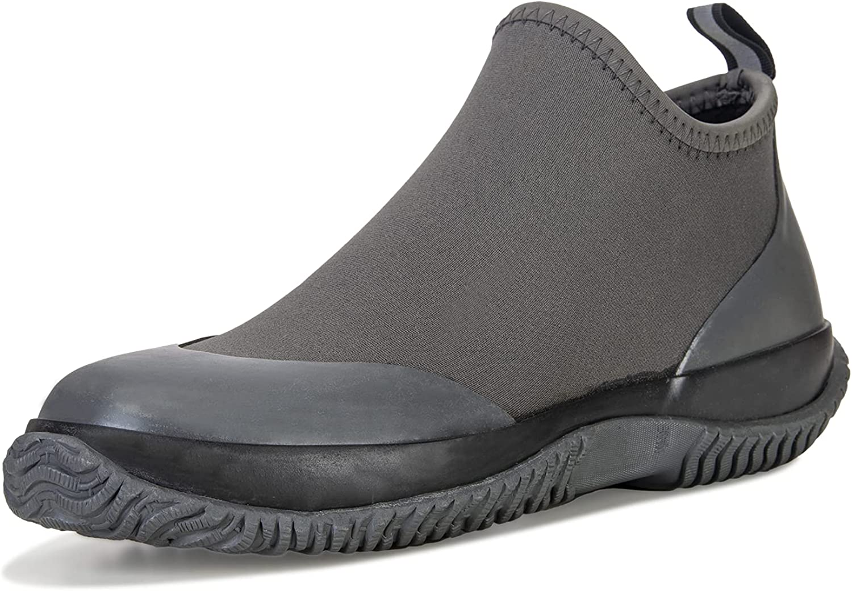 BAXINIER Waterproof Garden Shoes Mens Lightweight Low Bombing new work Short Rain Elegant