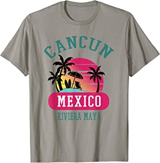 Vintage Cancun Mexico Beach Retro Novelty Art Souvenir Surf T-Shirt