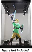 ELITE E-01 GLOSS BLACK 8 LED LIGHTED FIGURE STATUE DOLL DISPLAY CASE FOR 1/6 SCALE FIGURES AND MOST FIGURES UP TO 16