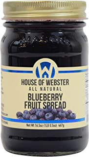 House of Webster Blueberry Fruit Spread - No Added Refined Sugar - 16.5 oz