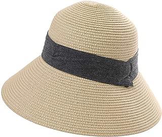 SiggiHat Comhats Packable UPF Straw Sunhat Women Summer Beach Wide Brim Fedora Travel Hat 54-59CM - - Medium