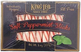 King Leo Peppermint Soft Sticks 8 oz. Box