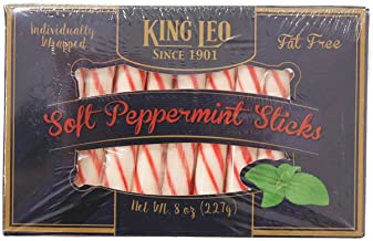 King Leo Peppermint Soft Sticks 8 oz. Box