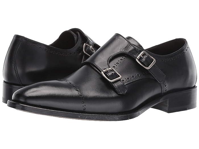JandM Collection  Reece Monk (Black) Mens Shoes