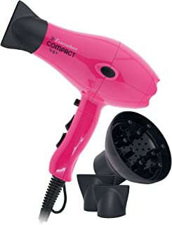 Secador de Pelo de Viaje Profesional con Difusor Compacto Ligero Potente Rosa (Pink) 2100W Everywhere By AGV