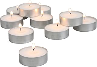 Stonebriar DTL-100-8 Long Burning Tealight Candles - 8 Hours - White - Unscented - 100 Pack, White, 100 Pack (4 Hour)