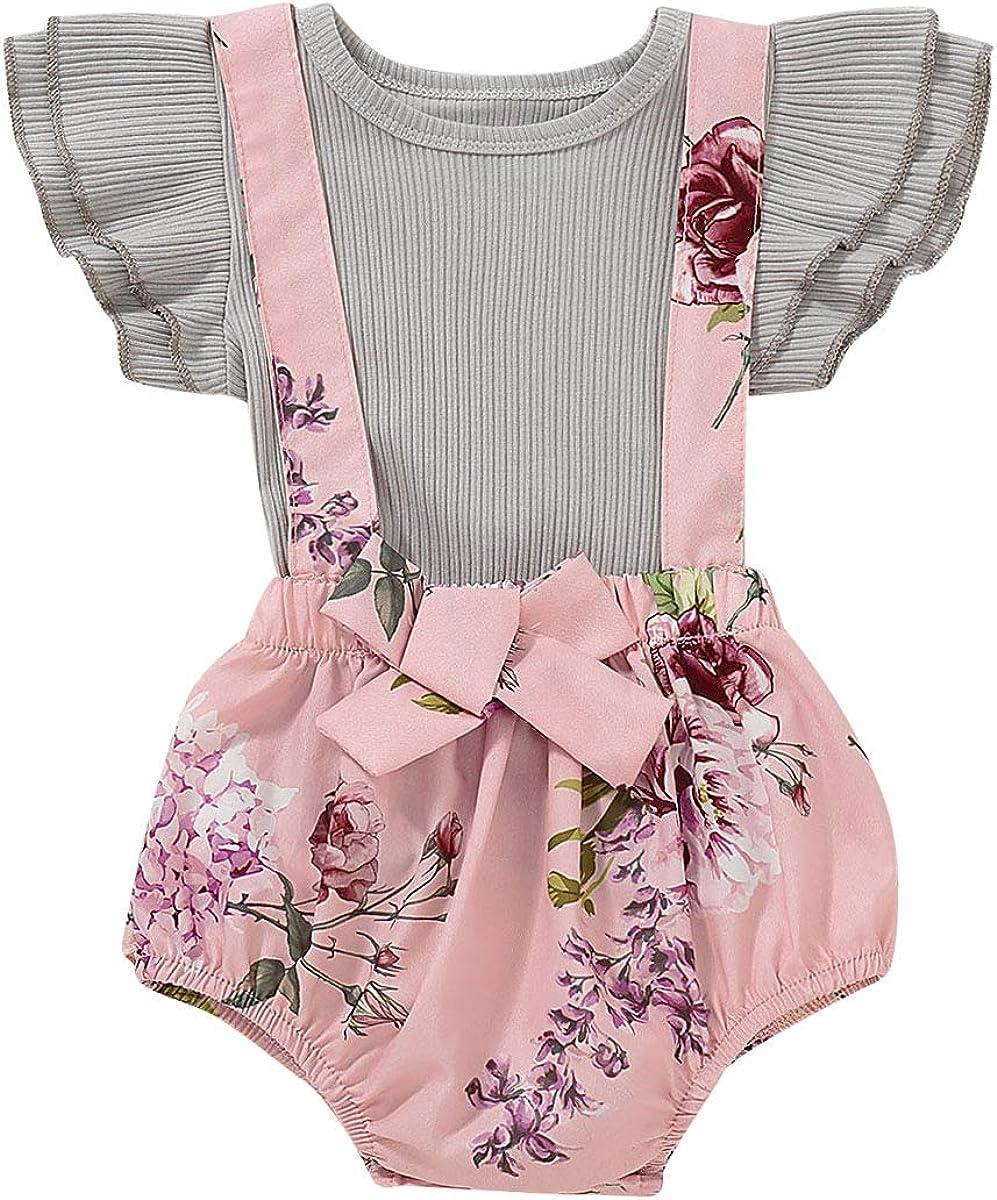 R-ejet Infant Baby Girls Ruffles Dress Sale SALE% OFF Summer 5 ☆ very popular Sleeve Floral Prin
