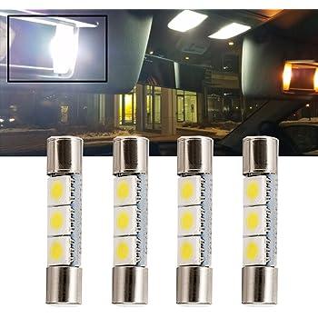 confezione da 2 Taben 31/mm festone lampadina LED COB chipset vetro C5/W DE3175/DE3021/DE3022/3175/Dome mappa tronco auto lampadine LED luce di lettura
