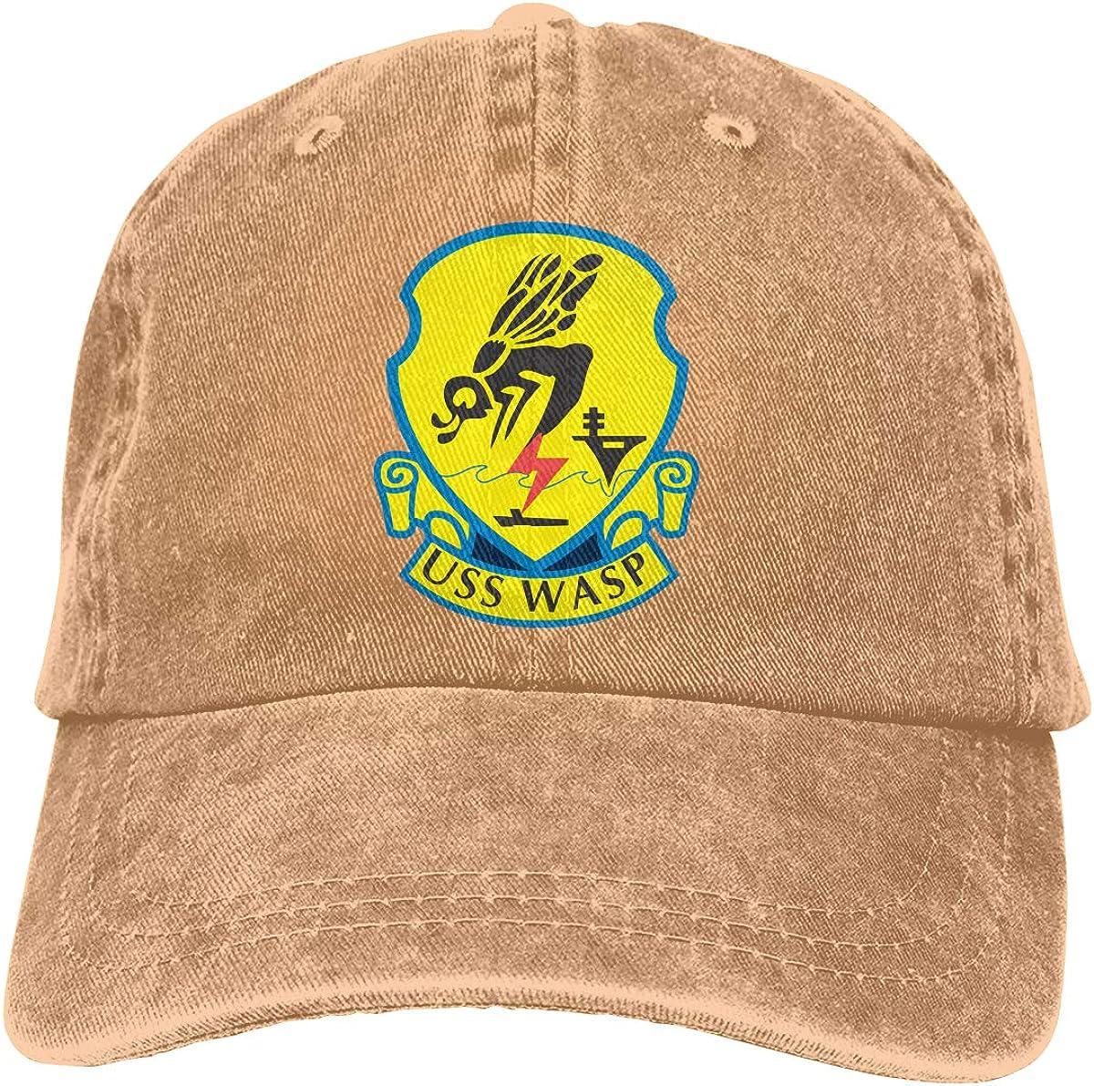 SLISL EIEI Navy USS Wasp LHD-1 Adjustable Baseball Caps Denim Hats Cowboy Sport Outdoor