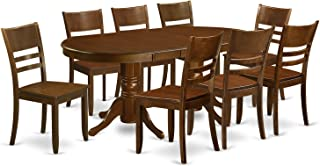 East West Furniture 9 Piece Set Vancouver Kitchen Table With One 17