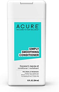 ACURE Simply Smoothing Conditioner - Coconut Water & Marula Oil | 100% Vegan | Performance Driven Hair Care | Smooths & Reduces Frizz | 12 Fl Oz