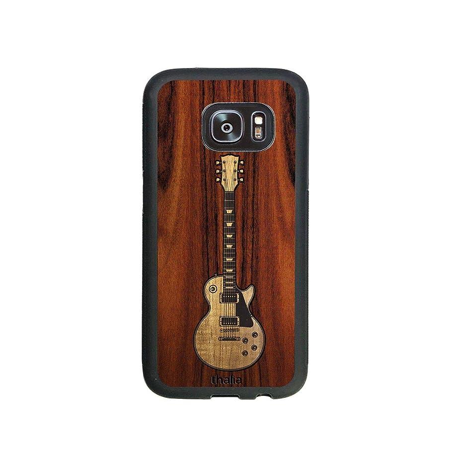 Santos Rosewood & Les Paul Hawaiian Koa Inlaid Guitar Phone Case   Thalia Exotic Wood Cases Samsung Galaxy S7