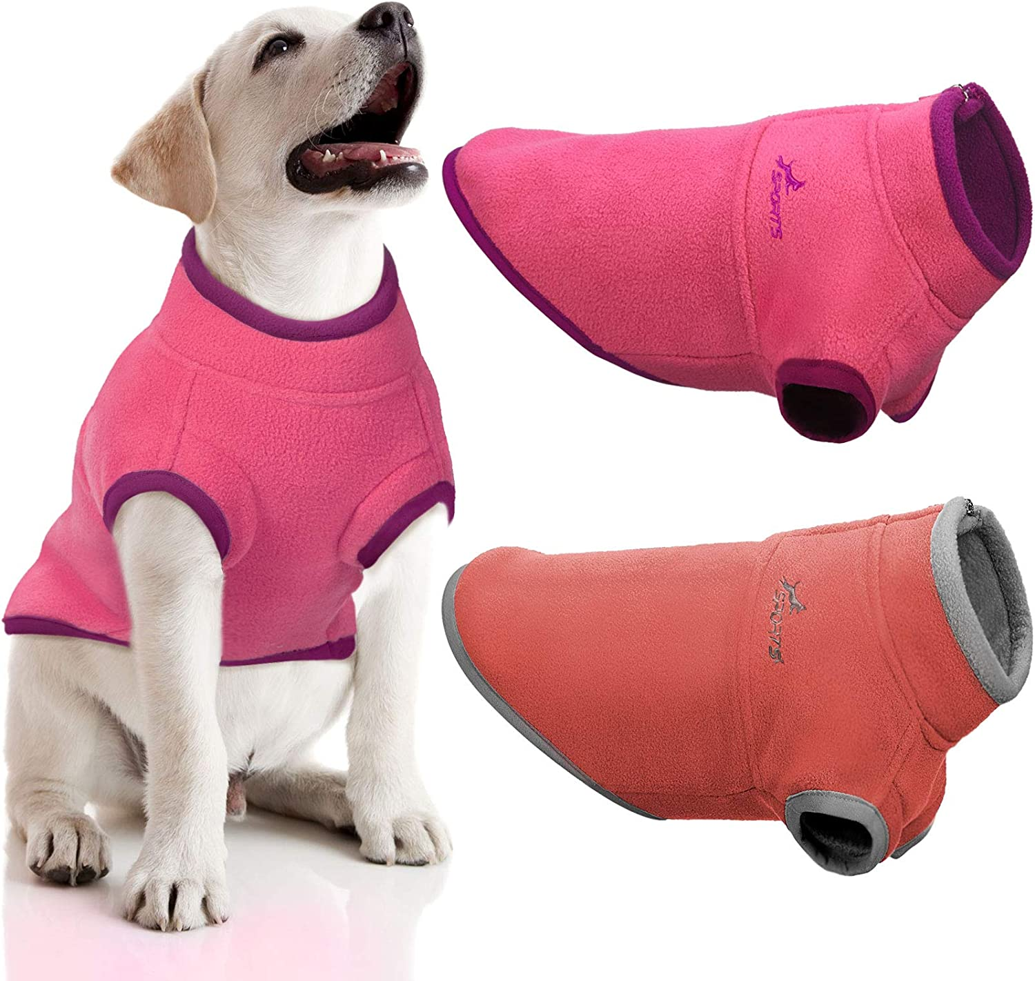 2 Pieces Fleece Dog We OFFer at cheap prices Sweaters Half Popularity Pullover Coat D Zip Puppy Warm