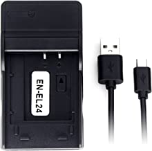 EN-EL24 Ultra Slim USB Charger for Nikon 1 J5 Camera Battery