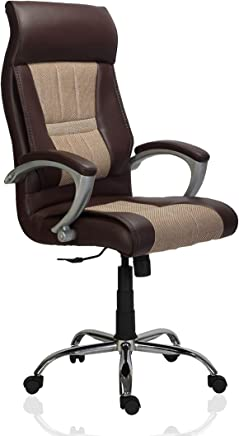 Green Soul Auckland High Back Office Chair (Brown and Cream)