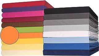 CelinaTex Lucina Drap-Housse surmatelas Housse lit sommier tapissier Coton 140x200-160x200 cm Orange