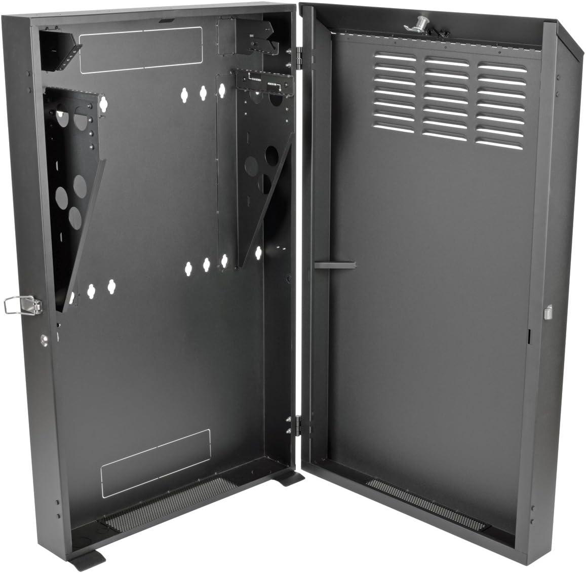 Tripp Lite 4U Vertical Wall Mount Rack Enclosure Cabinet, Low Profile, Server Depth, 36