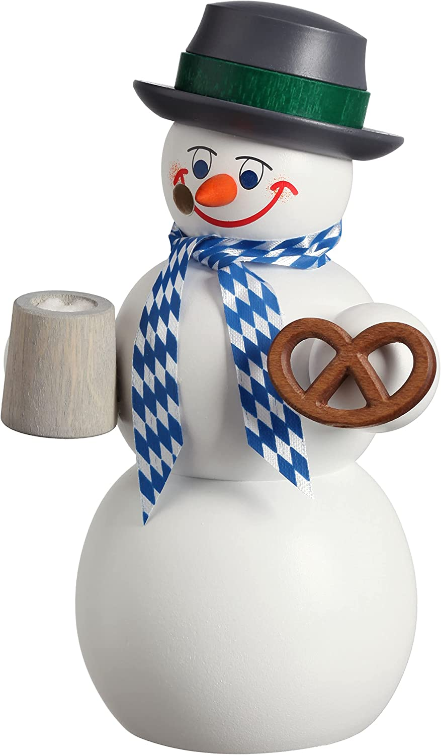 Seiffener Volkskunst German 67% OFF of fixed price Incense Bavarian Seattle Mall Snowman Hei Smoker