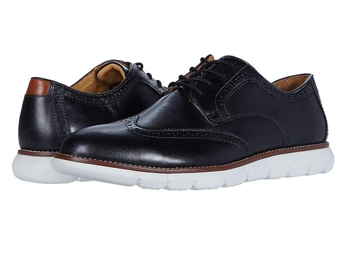 Johnston and Murphy  Holden Wing Tip (Black Full Grain) Mens Shoes