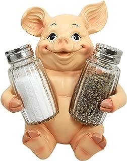 Ebros Animal Farm Cute Babe Pig Porcine Spice Statue Salt And Pepper Shakers Holder Pig Figurine Kitchen Decor Centerpiece Farmers Animal Lovers