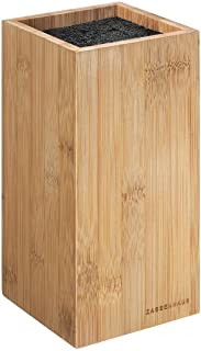 Zassenhaus 54163Cuchillos Bambú Rectangular, bambú, marrón, 12x 12x 23cm