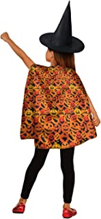 Heart Wolf Pumpkin Faces Pumpkin Carving White Kids Cape Hooded Cloaks for GirlsHalloween Costume Kids Unisex Cape Hooded