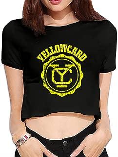 Custom Women Yellowcard Band Logo Midriff Tshirts