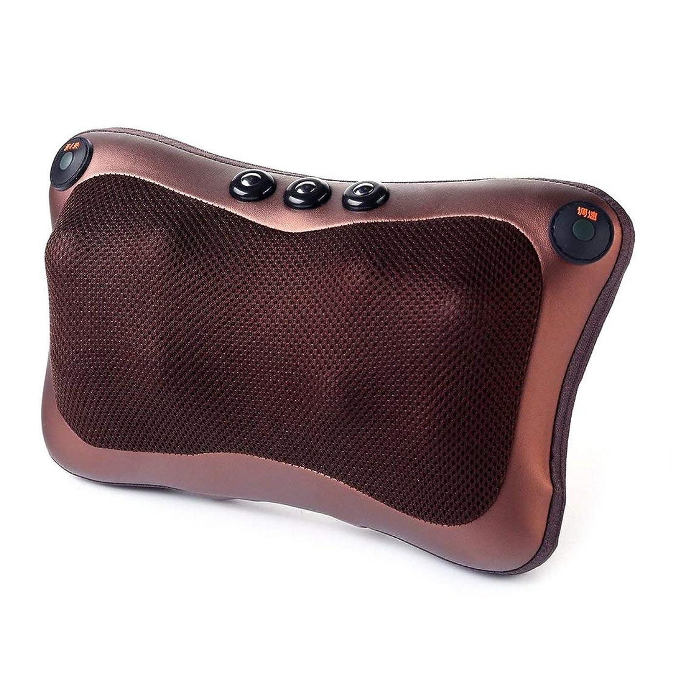 拡散する迫害する頼む8ヘッド快適な磁気療法電子ネックマッサージャーショルダーバックウエストマッサージ枕クッション最高の贈り物 (色:黒) (PandaW)