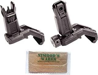 Magpul MBUS Pro Offset Sights Set Front & Rear + Nimrod's Wares Microfiber Cloth