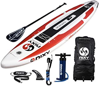 "NIXY Manhattan Paddle Board Touring & Trekking Inflatable SUP 12'6"" x 30"" x 6"" Ultra-Light Stand Up Paddleboard built with..."