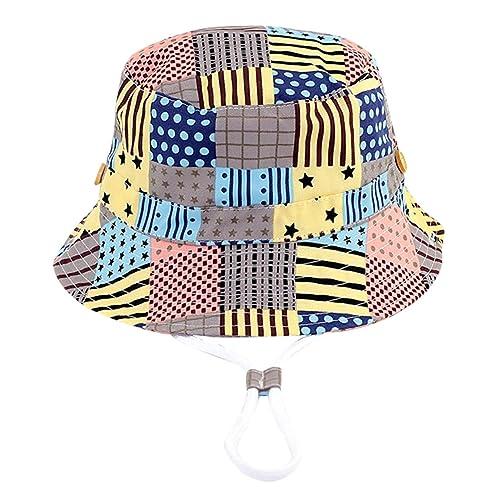 a67279bceb33 RUHI Bébé Bonnet Chapeau de Soleil avec Imprimé en Coton Respirant Anti-UV  Casquette Enfant
