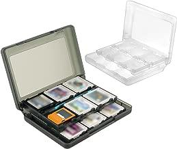 Insten 28-in-1 Game Card Case for Nintendo 3DS for Nintendo 3Ds Cartridge Storage Solution Box (1 White Case + 1 Black Case)