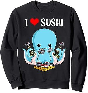 Sushi Cadeaux Femmes Japon Mignon Poulpe Cadeaux Enfants Sweatshirt