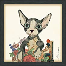 """Empire Art Direct """"Sphynx Dimensional Art Collage Hand Signed Alex Zeng Framed Graphic Wall Art"""