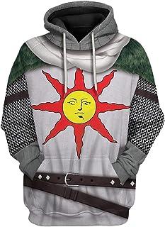 Mens Game Cosplay Dark Solaire Hoodie Costume 3D Printed Warrior Knight Souls Adult Sweatshirt