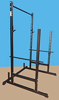 TDS Power, Squat & Open Rack Station, with Solid Steel Safety Bars, 1.25