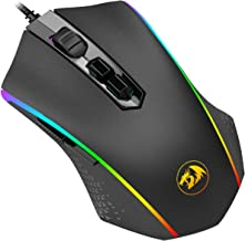 Redragon M710 MEMEANLION Chroma Gaming Mouse, High-Precision Ambidextrous Programmable Gaming Mouse with 7 RGB Backlight Modes and Tuning Weights, up to 10000 DPI User Adjustable