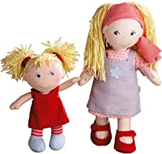 HABA Lennja & Elin Sisters - 12 inch and 8 inch Soft Doll Pair