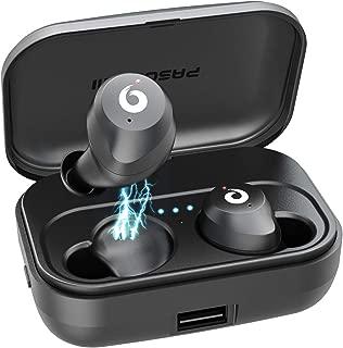 Wireless Earbuds TWS Bluetooth Earbuds Stereo Bluetooth 5.0 Headphones Sports IPX7 Waterproof Wireless Earphones with 2200mah Charging Case/Box, Built-in Mic … (Black)