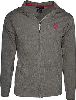 Girl's Solid Lightweight Zip-Up Hoodie Sweatshirt