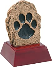 Decade Awards Paw Print Sculpture Trophy, Dog or Cat - Paw Print Award - 4 Inch Tall - Customize Now