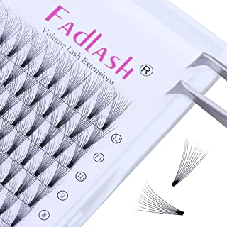 Volume Lash Extensions Premade 10D C Curl 0.10mm 8~14mm Mixed Tray Individual Lashes Knot Free Cluster Lashes by FADLASH