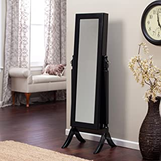 Finley Home Heritage Jewelry Armoire Cheval Mirror - High Gloss