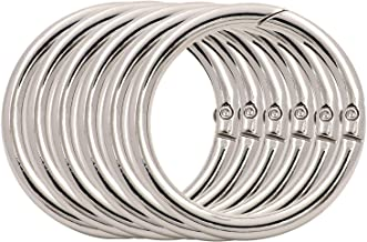 and Belt Straps BIKICOCO 3//5 Metal O Ring Purse Connector Round Loop Buckles Non Welded for Bags Pack of 10 Silver Collars Shoes