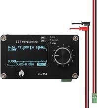 Baugger Display OLED de 1,3 polegadas com toque no botão 250 kHz Taxa de amostragem Osciloscópio simples Ajuste do botão d...
