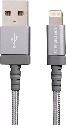 AmazonBasics Nylon Braided Lightning to USB A Cable, MFi...