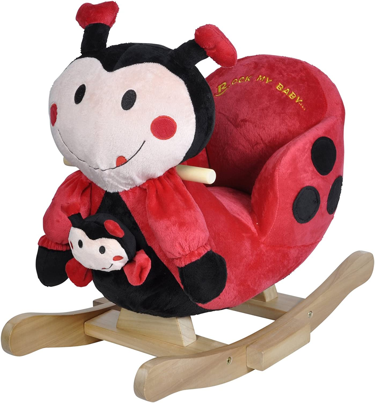 Knorrtoys 40357  Schaukeltier Ladybug Marie mit Sound inklusive Handpuppe