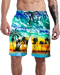 Tuhuo Men Swimwear Swimtrunks Out Space Quick Dry Sports Beach Summer Outfit Pants