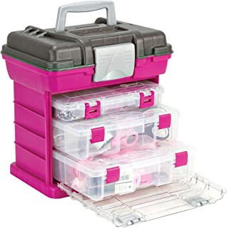 """Creative Options Grab'n Go 3-By Rack System-13""""X10""""X14"""" Magenta & Sparkle Gray (Pack of 1)"""