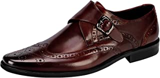 Dress Shoes for Men Casual Leather Classic Modern Brogue Monk Buckle Oxfords Derby Shoes by